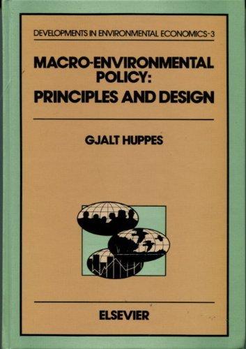 9780444816573: Macro-Environmental Policy: Principles and Design (Developments in Environmental Economics)