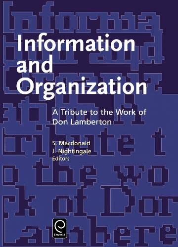 9780444828866: Information and Organization: A Tribute to the Work of Don Lamerton