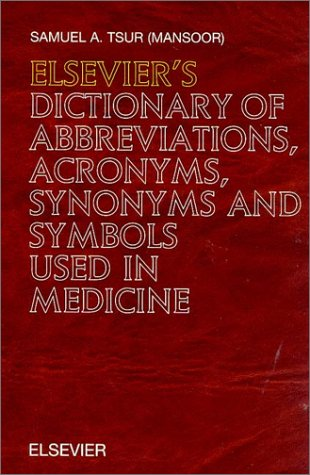 9780444829047 Elseviers Dictionary Of Abbreviations Acronyms