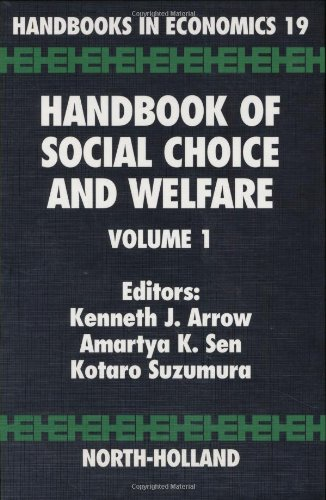 9780444829146: Handbook of Social Choice and Welfare, Volume 19 (Handbooks in Economics)