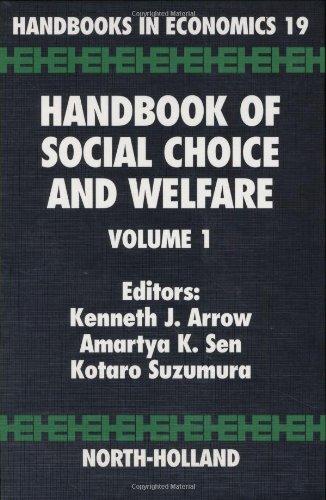 9780444829146: Handbook of Social Choice and Welfare: Vol 1 (Handbooks in Economics)