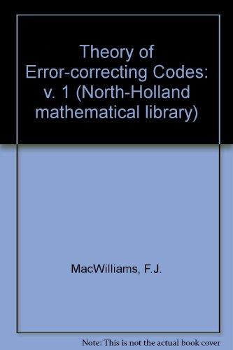 9780444850096: The Theory of Error-Correcting Codes (North-Holland Mathematical Library, Vol. 16)