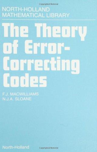 9780444850119: Theory of Error-correcting Codes