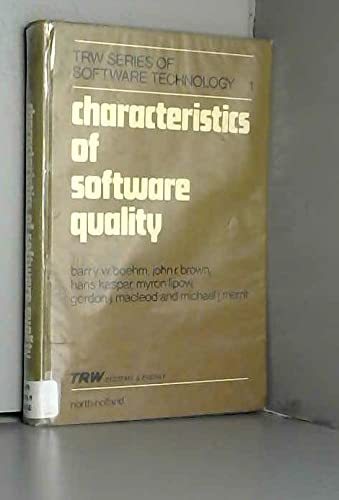 9780444851055: Characteristics of Software Quality (TRW series of software technology)