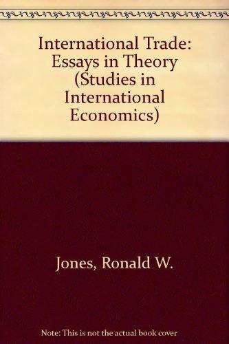 9780444852267: International trade: Essays in theory (Studies in international economics ; v. 4)