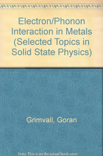 9780444861054: The Electron-Phonon Interaction in Metals (Selected Topics in Solid State Physics XVI)