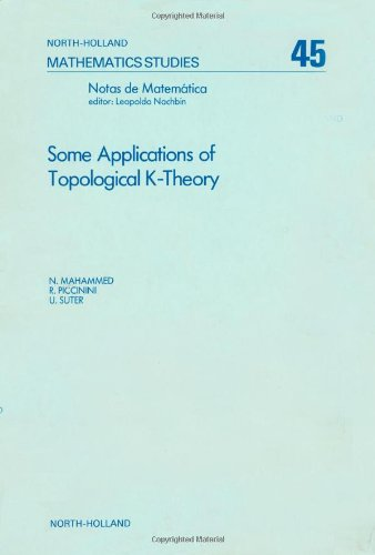 9780444861139: Some applications of topological K-theory, Volume 45 (North-Holland Mathematics Studies)