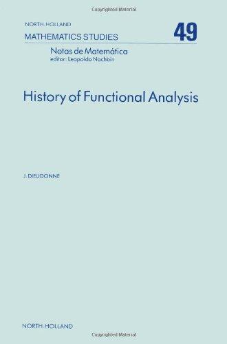 9780444861481: History of Functional Analysis, Volume 49 (North-Holland Mathematics Studies)