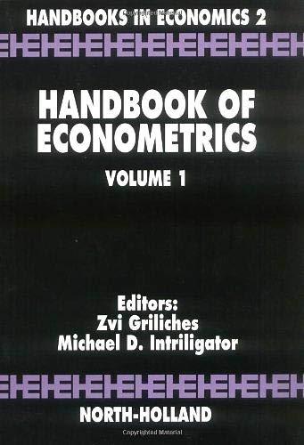 9780444861856: Handbook of Econometrics