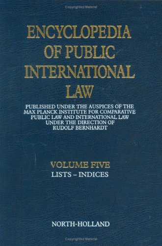 9780444862488: (Indices), Volume 5