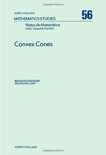 9780444862907: Convex Cones (Mathematics Studies)