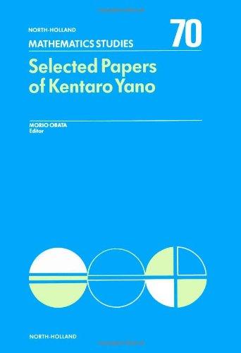 Selected Papers of Kentaro Yano: Obata, Morio