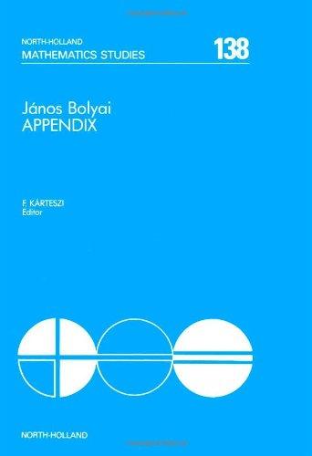 9780444865281: Appendix: Theory of Space (Mathematics Studies)