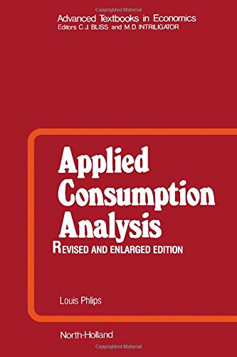 9780444865311: Applied Consumption Analysis (Advanced Textbooks in Economics)