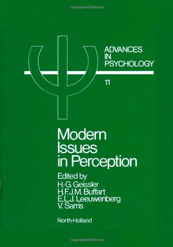 9780444866325: Modern Issues in Perception (Advances in Psychology)