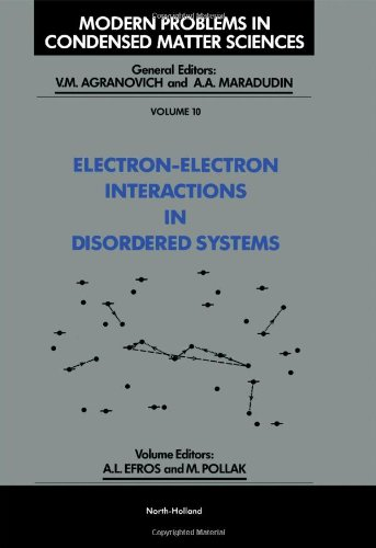 9780444869166: Electron-Electron Interactions in Disordered Systems (Modern Problems in Condensed Matter Sciences)