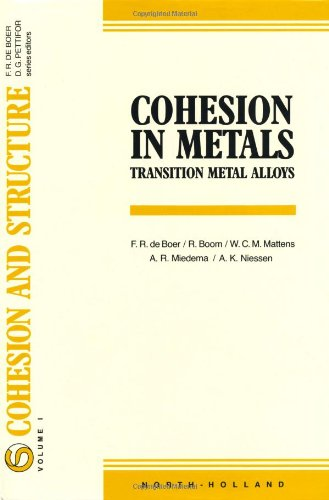 9780444870988: Cohesion in Metals: Transition Metal Alloys (Cohesion and Structure)