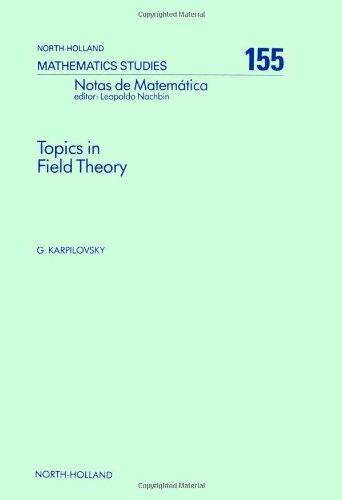 9780444872975: Topics in Field Theory (Notas De Matematica, 124)