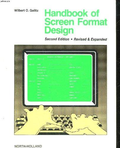 9780444878373: Handbook of screen format design