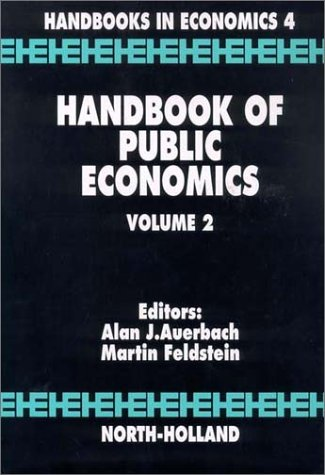 9780444879080: 002: Handbook of Public Economics, Volume 2 (Handbooks in Economics)