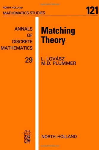 9780444879165: Matching Theory (North-Holland Mathematics Studies 121)