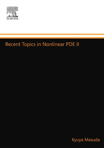 9780444879387: Recent Topics in Nonlinear Pde II