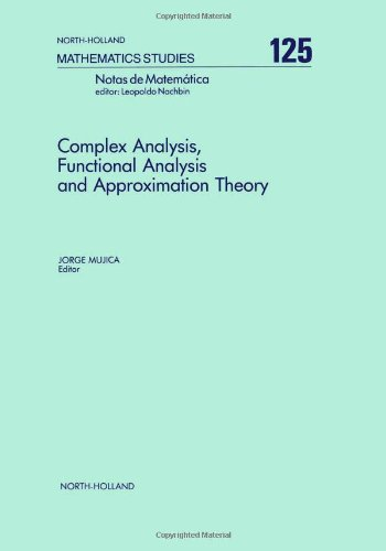 9780444879974: Complex Analysis, Functional Analysis and Approximation Theory (North-Holland Mathematics Studies)