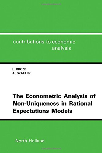 9780444881038: The Econometric Analysis of Non-Uniqueness in Rational Expectations Models (Contributions to Economic Analysis)