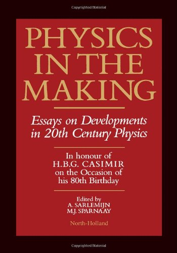 9780444881212: Physics in the Making: Essays on Developments in 20th Century Physics (North Holland Personal Library)