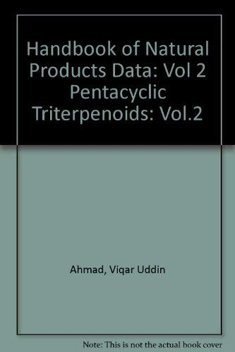 9780444882004: Pentacyclic Triterpenoids (Handbook of Natural Products Data) (Vol.2)