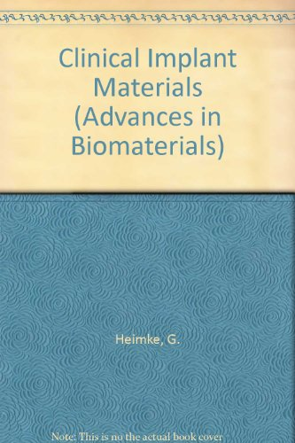 9780444882264: Clinical Implant Materials (Advances in Biomaterials)