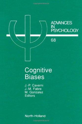 9780444884138: Cognitive Biases, Volume 68 (Advances in Psychology)