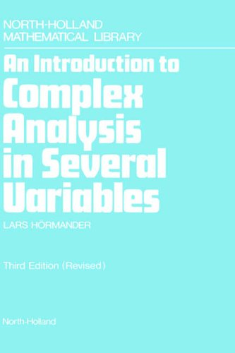 An Introduction to Complex Analysis in Several: Hormander, Lars