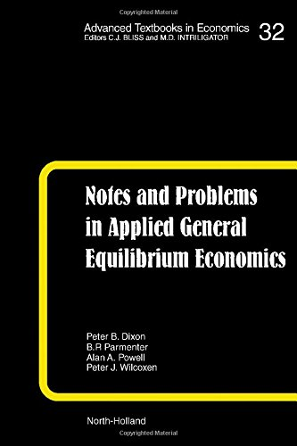 9780444884497: Notes and Problems in Applied General Equilibrium Economics