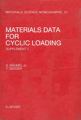 9780444886033: Materials Data for Cyclic Loading (Materials Science Monographs)