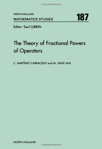 9780444887979: The Theory of Fractional Powers of Operators (North-Holland Mathematics Studies)