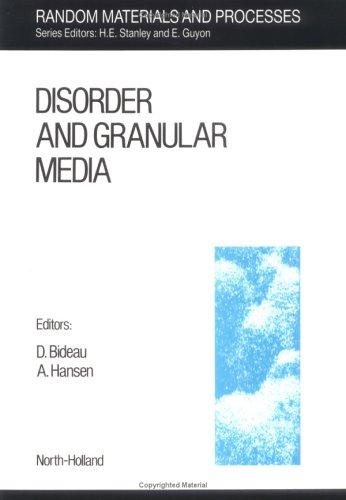 9780444889256: Disorder and Granular Media, Volume 3 (Random Materials and Processes)