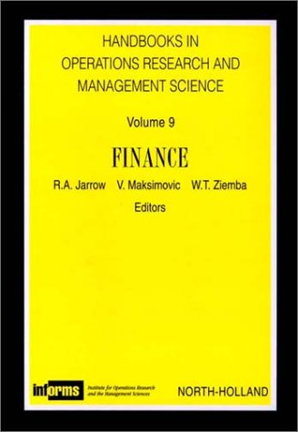 Handbooks in Operations Research and Mangement Science.: Jarrow, R. A.,