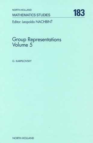 9780444892614: Group Representations (North-holland Mathematical Library)