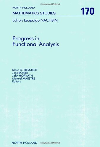 9780444893789: Progress in Functional Analysis: Proceedings of the International Functional Analysis Meeting on the Occasion of the 60th Birthday of Professor M. V (North-Holland Mathematics Studies, 170)