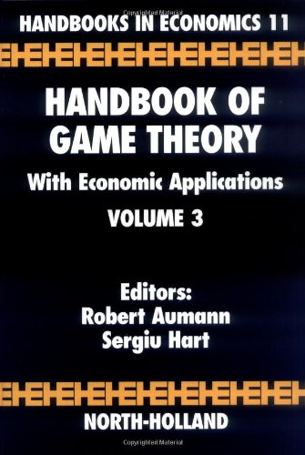 9780444894281: Handbook of Game Theory with Economic Applications, Volume 3