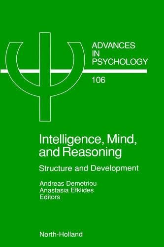 Intelligence, Mind, and Reasoning, Volume 106: Structure
