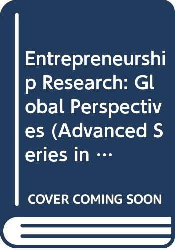 9780444899880: Entrepreneurship Research: Global Perspectives (Advanced Series in Management)