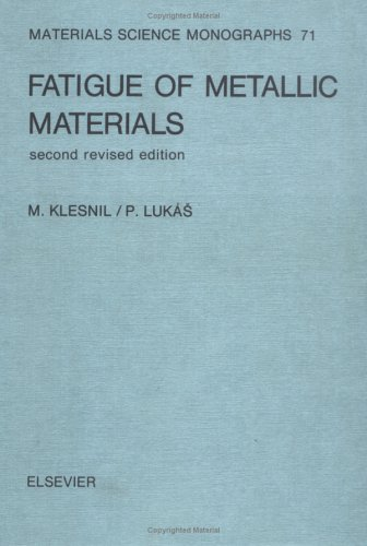 Fatigue of Metallic Materials: Materials Science Monographs: Klesnil, Mirko; Lukas,
