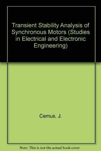 9780444988669: Transient Stability Analysis of Synchronous Motors (STUDIES IN ELECTRICAL AND ELECTRONIC ENGINEERING)