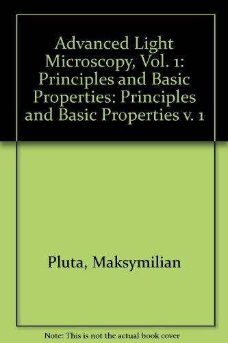 9780444989390: Advanced Light Microscopy, Volume 1: Principles and Basic Properties