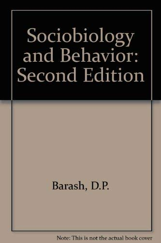 9780444990914: Sociobiology and Behavior: Second Edition