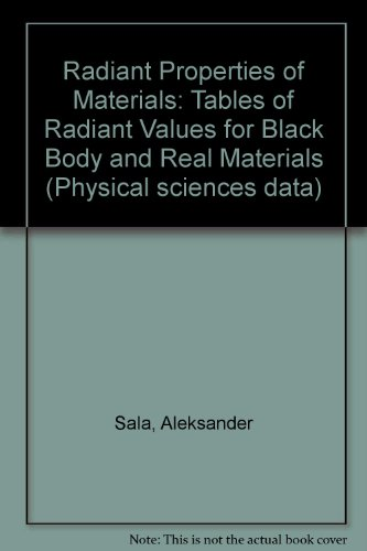9780444995995: Radiant Properties of Materials: Tables of Radiant Values for Black Body and Real Materials (Physical sciences data)