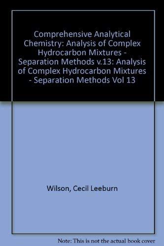 Wilson and Wilson's Comprehensive Analytical Chemistry, Vol.: S. Hala, M.