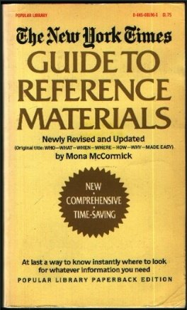 9780445081963: The New York times guide to reference materials =: Original title, Who-what-when-where-how-why-made easy